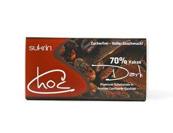 Premium SUKRIN Schokolade zuckerfrei ´dark´