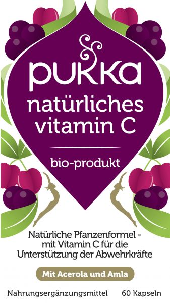 Natürliches Vitamin C 60 Kapseln Bio